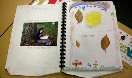 A student's nature journal. (Photo: Claudia Bolli)